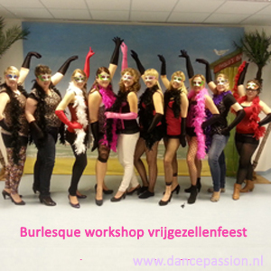 Burlesque workshop vrijgezellenfeest